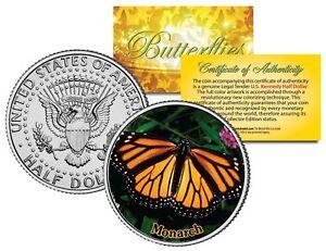 MONARCH-BUTTERFLY-JFK-Kennedy-Half-Dollar-US-Colorized-Coin