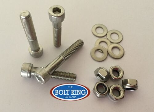 M8 x 50mm Socket head cap screw 304 stainless steel kit QTY 10 bolt//nut//washer