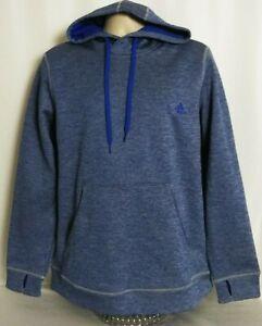 Adidas-Climawarm-Pullover-Thumbhole-Sweatshirt-Hoodie-Blue-Womens-Size-XL