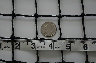 """Nets, Cages & Mats Forceful 25' X 6' Black Square Nylon Lacrosse Impact Netting 1 1/2"""" #30 Hockey Net Sporting Goods"""