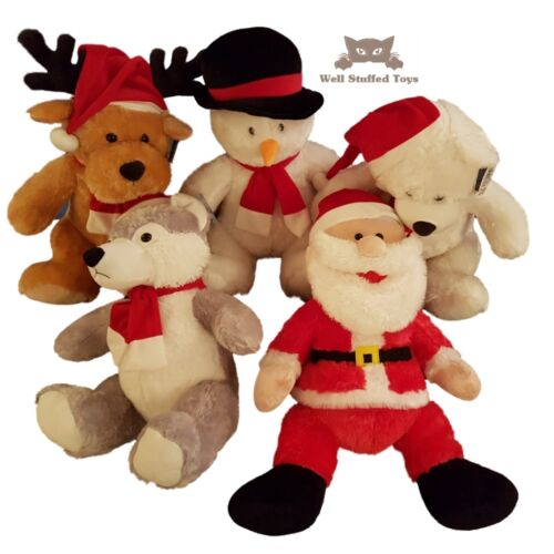 """Christmas Soft Toy Selection Large Gift Display Rudolph Snowman Santa 55cm 21/"""""""