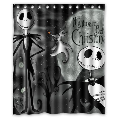 bathroom nightmare before christmas waterproof shower curtain 60 x 72 inch ebay - Nightmare Before Christmas Bathroom