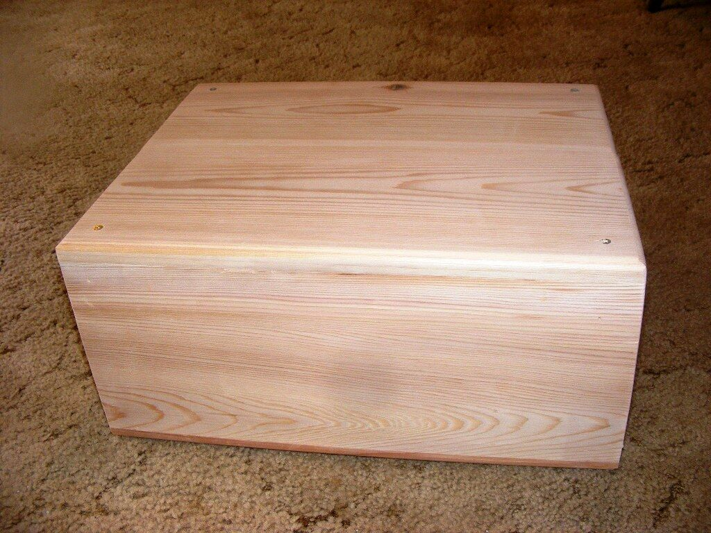 Pet Coffin Casket for DogsCats 18 x 14 x 8 All Cedar  Decorative Edge Routed