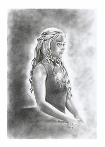 DAEYNERYS-039-Game-of-Thrones-039-by-Adriana-Tavares-original-drawing-cardstock