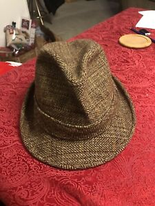 0819fb7ac Details about Vintage Stetson Fedora Hat Brown Size 7 1/8