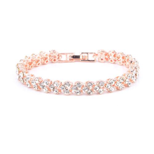 Ladies-Silver-Crystal-Rhinestone-Bangle-Bracelet-Wedding-Bridal-Jewelry-Diamond