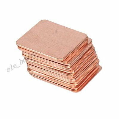 30 Pcs Heatsink Cooling Copper Pad Shim For Laptop CPU GPU Video Card 15mmx15mm