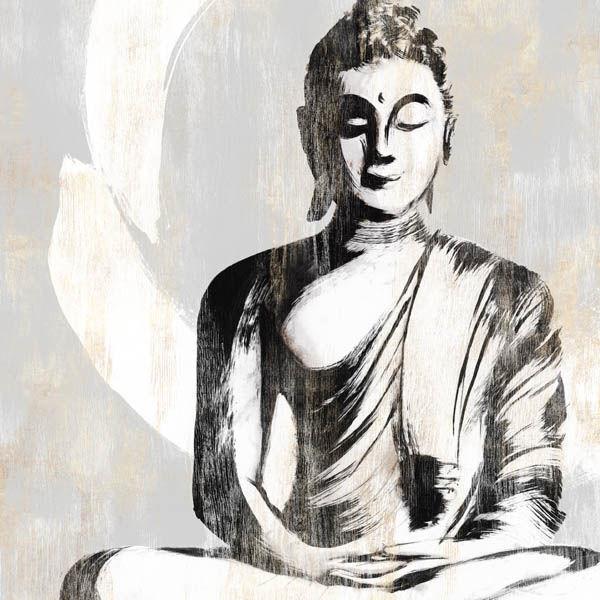 Isabelle Z  Buddha II Keilrahmen-Bild Leinwand Figur Zen Asia-Style Feng-Shui