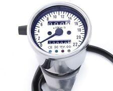 Mini Tachometer 2:1 weiss 60 mm m. Kontrollleuchten