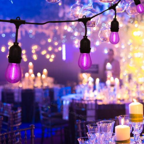 10 x Ampoules à DEL 1 W S14 E27 Fée cordes Guirlande lumineuse fête de jardin Occasion Feux