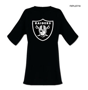 47b62668aee9 Image is loading Official-Ladies-T-Shirt-Oversized-DRESS-Oakland-Raiders-