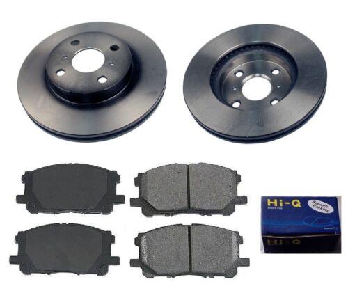 Front Ceramic Brake Pad Set /& Rotor Kit for 2006-2011 Toyota Yaris