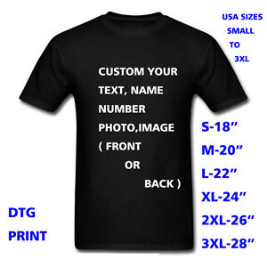 Personalized t shirt custom your text printed many colors for Custom full color t shirts