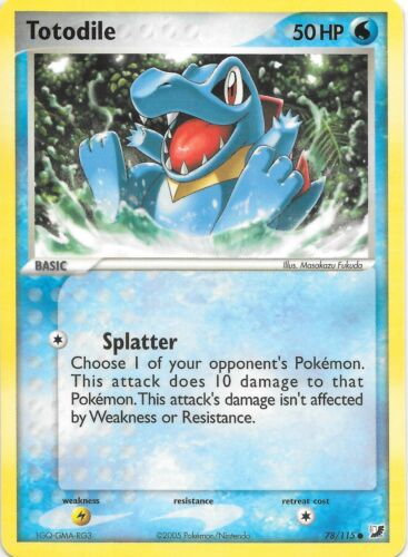 TOTODILE  78//115  EX Unseen Forces Pokemon Card  NM