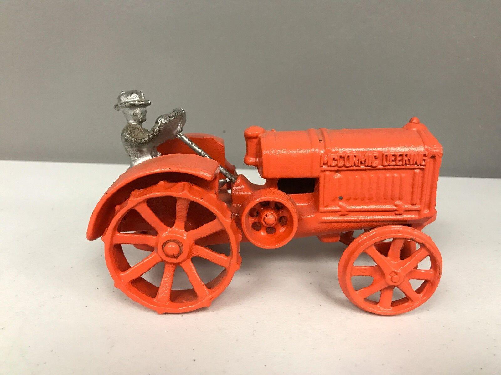 Vintage Cast Iron Toy Farm Tractor