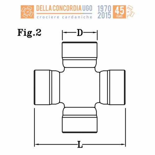 CROCIERA CARDANICA 18x47 CR 1
