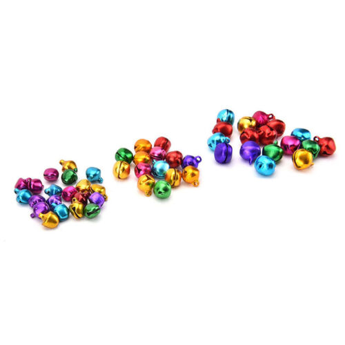 100XColorful Small Jingle Bell Findings Mixed Color 6mm//8mm//10mm Sew On CraMA6K