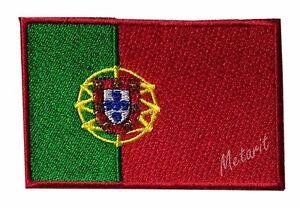 71-PORTUGAL-Flag-Iron-On-Patch-Aufbugler-Applique-Ecusson-Emblem-Wappe-Fahne