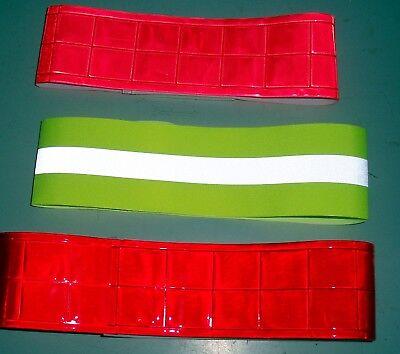 HyVIZ Reflective Flourescent Elastic Hi-Vis Arm//Leg Band Pink//Yellow One Size