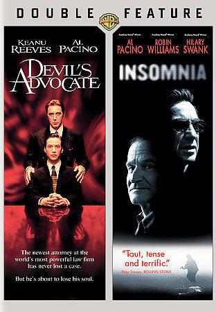 2 MOVIES;Devils Advocate/Insomnia (DVD, 2008)NEW; + Slipcover;Pacino/ R Williams 1