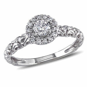Amour-14k-White-Gold-1-2-Ct-TDW-Diamond-Cluster-Ring-G-H-I1-I2