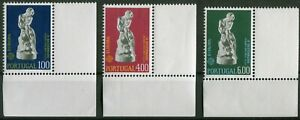 Portugal-CEPT-N-1231-1233-cachet-Eckrand-phrase-Europe-Michel-40-00-Neuf-sans-charniere