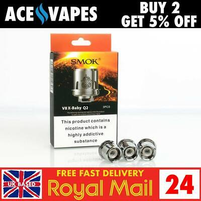 Smok Tfv8 X Baby Xbaby Beast Brother Coils Q2 0 4 Ohm Authentic Pack Of 3 6970232214626 Ebay