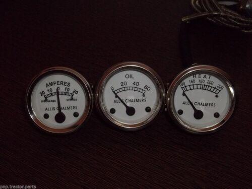 Allis Chalmers D15 Diesel D17 WD45 Temperature +Oil Pressure +Ampere Gauge