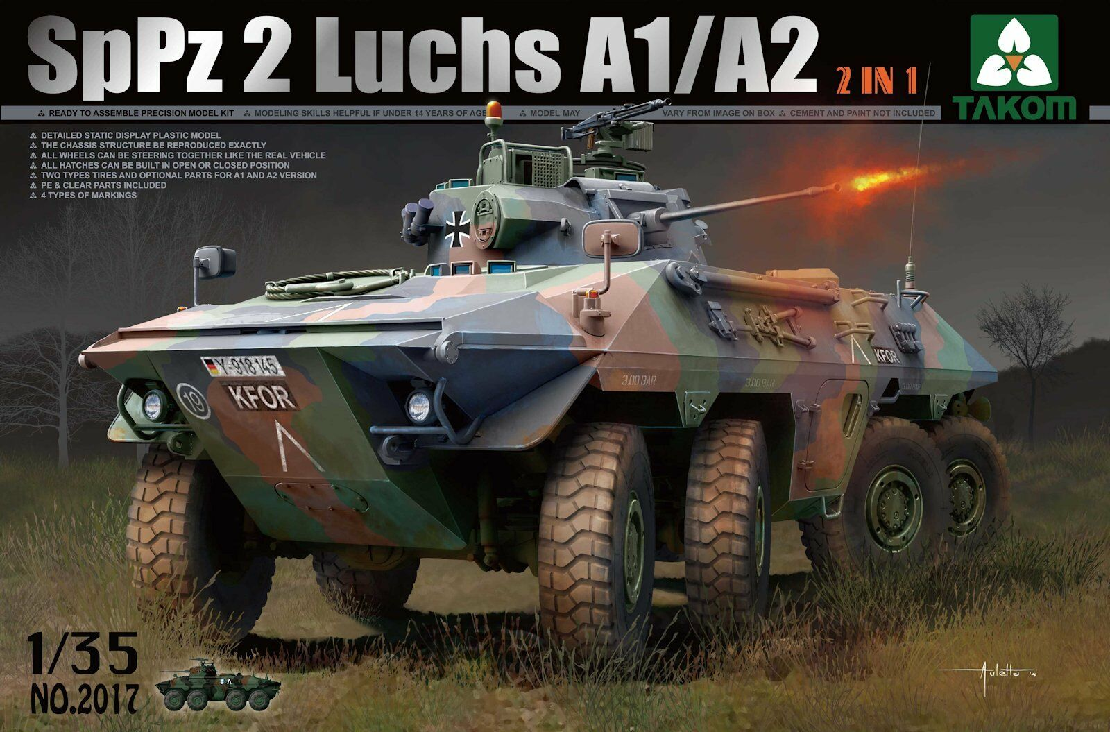 VEHICULE BLINDE ALLEMAND SpPz 2  LUCHS  - KIT TAKOM INTERNATIONAL 1 35 n° 2017