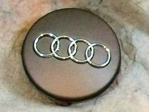 1 OEM 2000-2015 Audi Gray Center Cap Wheel Hub Cap