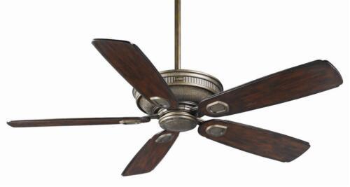 """Casablanca 60/"""" Ceiling Fan Heritage Aged Bronze HR C19500K Bronze Wicker Blades"""