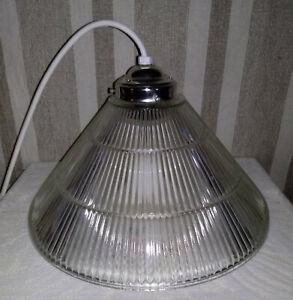 Vintage Industrial Hanging Ceiling Light Lancaster Holophane