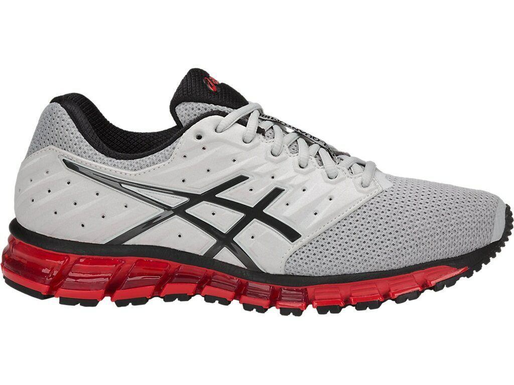 Asics T837N 9616 Gel-Quantum 180 2 MX Glacier grigio Phan rosso Men's Running scarpe