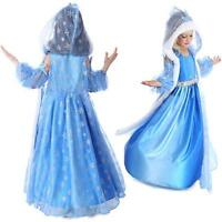 NEW FROZEN DRESS KIDS ELSA ANNA PRINCESS DRESS COSTUME PARTY FANCY SNOW QUEEN