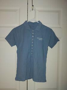 Women Dolce & Gabbana Light Blue Promo Short Sleeve Polo Top Shirt Size M/L