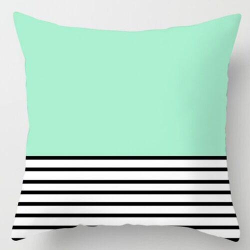 Green Pillow Case Sofa Car Waist Throw Cushion Cover Polyester Home Decor Gifts