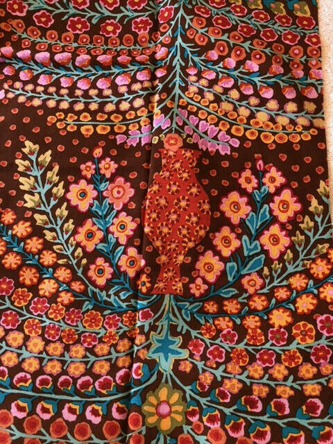 Kaffe Fassett Persian Vase GP100 in Lime Fat Quarter Cotton Floral Fabric OOP HTF