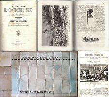 ATTRAVERSO IL CONTINENTE NERO-OSSIA LE SORGENTI DEL NILO-AFRICA-STANLEY-1879
