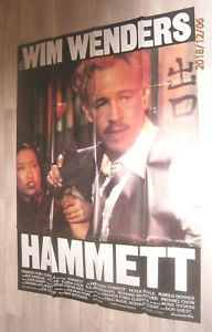 A0 Filmplakat  HAMMETT, v WIM WENDERS,F. FORD COPPOLA,FREDERIC FORREST