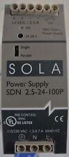 Sola Power Supply SDN 2.5-24-100P input 115-230 VAC output 24 VDC