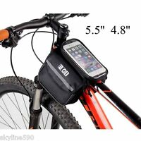Bicycle Touch Screen Tube Bag Bike Cycling Touch Screen Mobile Phone Bag Pannier