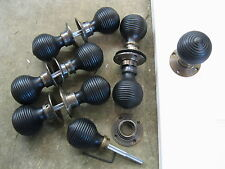 PR of Victorian Edwardian Reproduction Ebonized Beehive Door Knobs ...