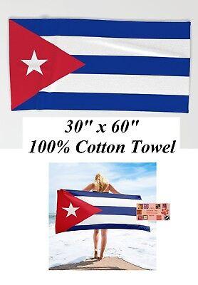 Hand-, Bade- & Saunatücher Kubanisch Flagge Fahne Groß Übergroß 76.2cmx 152cm Strandtuch Baumwolle Auf Bad Modern Und Elegant In Mode