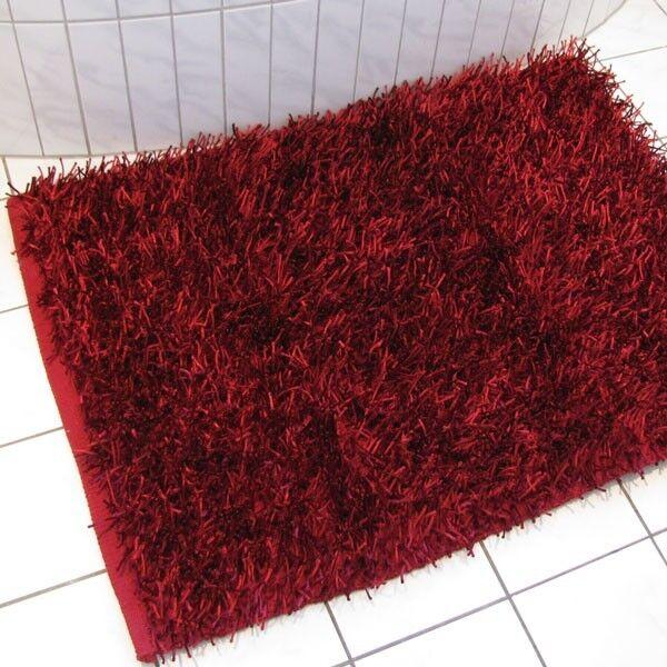 Langflor Badteppich Shaggy Gözze 70x120cm 70x120cm 70x120cm rot | Spezielle Funktion  e97c2f