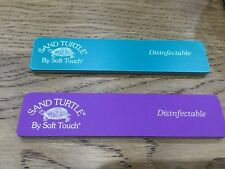 2 X Nsi Sand Turtle Nail Files 120 220 Grit New Cuticles