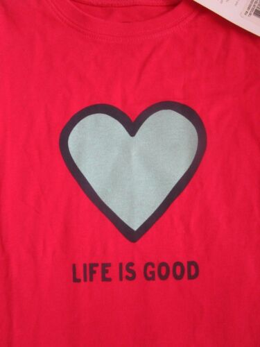 LIFE IS GOOD NWT Heart Love Pink SS TShirt Tee Top Girls NEW Size Sz 2 2T