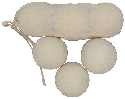 Nepalesische Trockner Bälle Handgefertigt Filz Wolle Weiss Natur Stoff Softner Home & Garden Other Home Cleaning Supplies