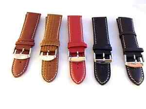 New-Premium-Quality-Leather-Watch-Strap-Band-24mm-Includes-Bars-Style-Choice