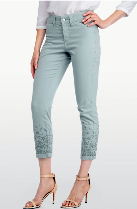 NWT NYDJ NOT YOUR DAUGHTERS JEANS Nina Slimming Twill Embroidered Ankle Pants 4