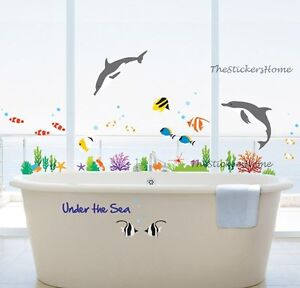Reusable-Under-The-Sea-Fish-Dolphin-Wall-Stickers-Bathroom-Nursery-Tile-Decals